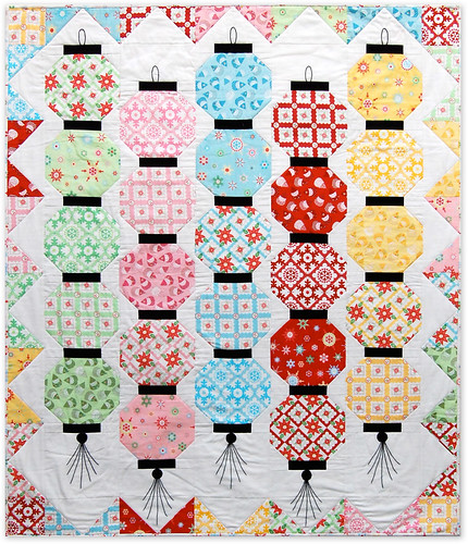 GLOW HAPPY quilt with Holiday Happy fabric collection by Monica Solorio-Snow | by Happy Zombie