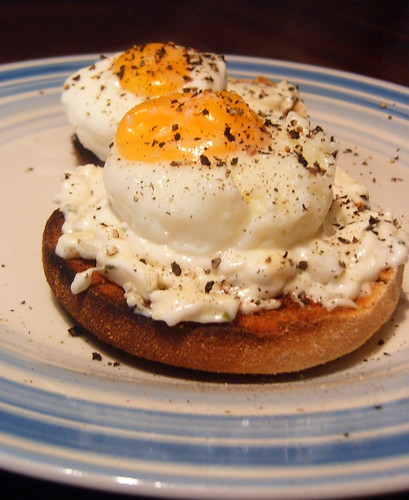 Poached Eggs on Muffins Late Brunch | by Annie Mole