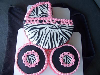 Zebra Baby Carriage Cake This Cake Was Submitted To Cu Flickr