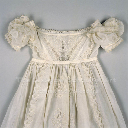 GB28b Christening Baby Robe (detail) | by Glasgow School of Art Archives & Library