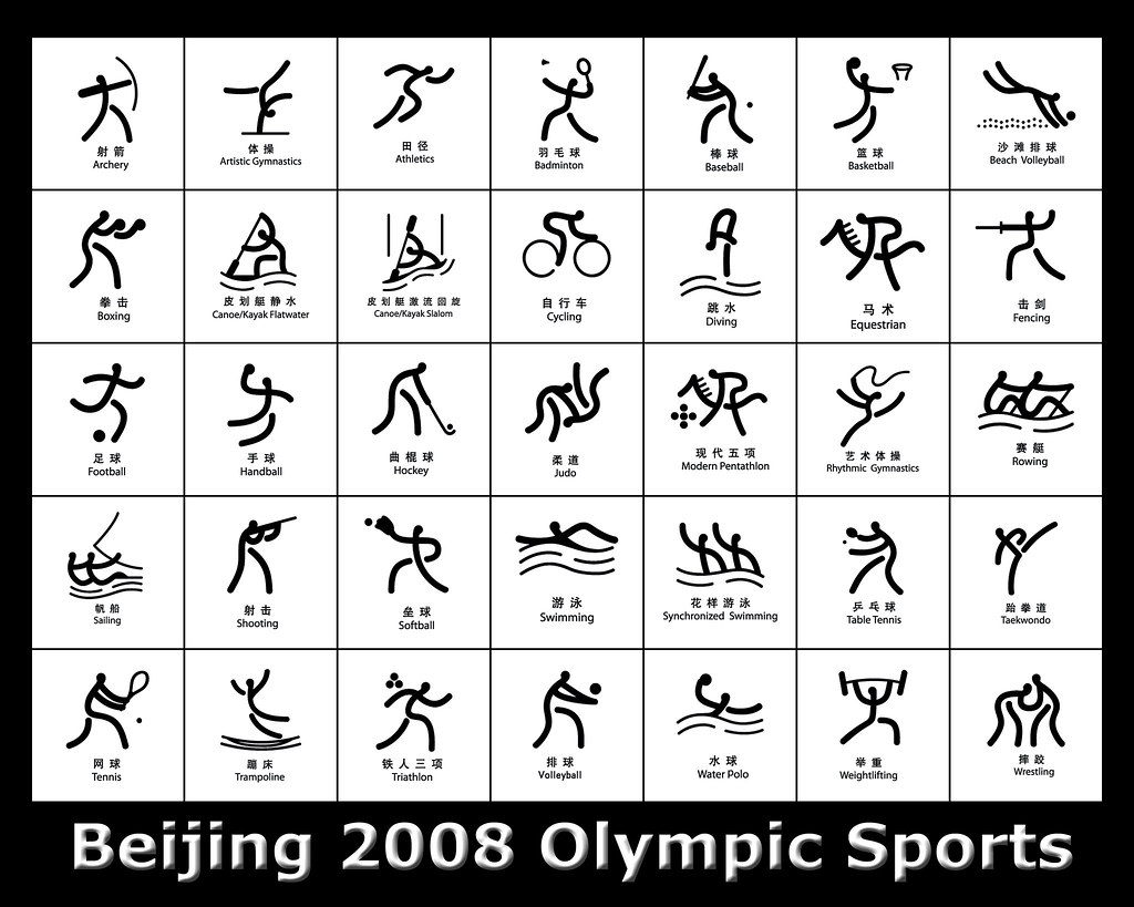 Beijing 2008 olympic pictograms ii some collections of the flickr beijing 2008 olympic pictograms ii by life in asianz biocorpaavc Choice Image