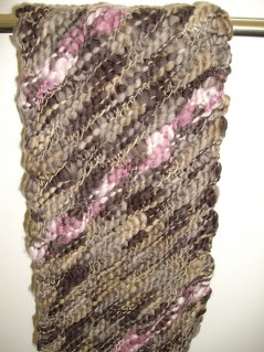 diagonal knit scarf | by drawing words