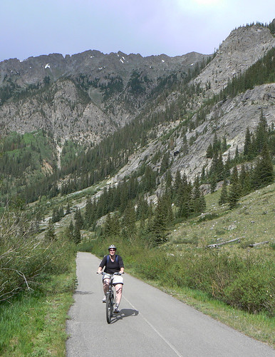 Inge riding from Vail Pass | by GlennCantor (theskepticaloptimist)
