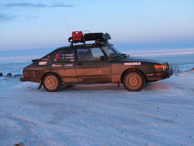 '85 Saab 900 in Tuktoyaktuk