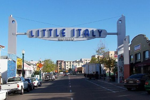 Welcome To Little Italy San Diego One Of The Side