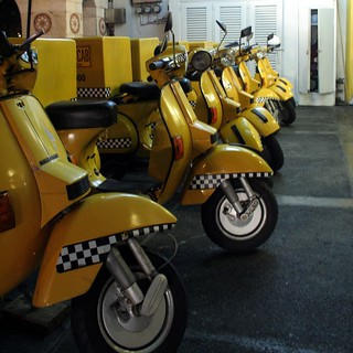 yellow cab vespa | by nicolegoes