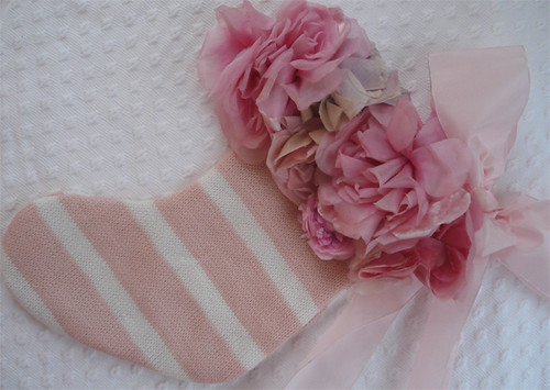 Shabby Roses Stocking | by such pretty things