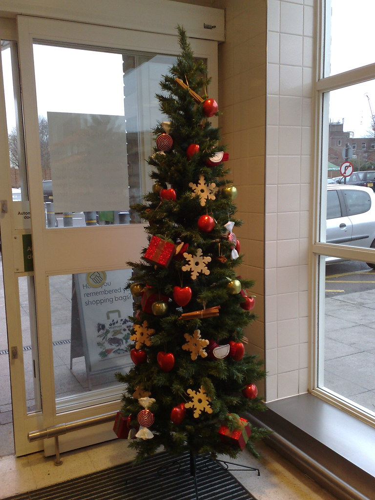 christmas tree in waitrose harrow by kaustav bhattacharya
