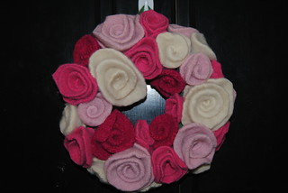 Felted Rose Wreath | by candybuttons