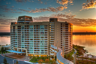 Bay Lake Tower Sunrise - Revisited | by cjbnc