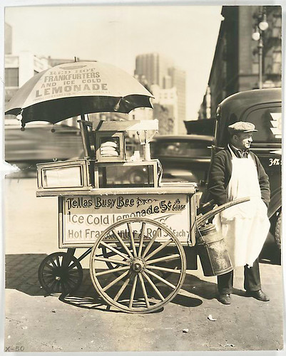 Hot Dog Stand, West St. and North Moore, Manhattan. | by New York Public Library