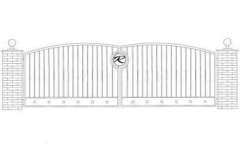 iron gate design double door  | 493 x 298