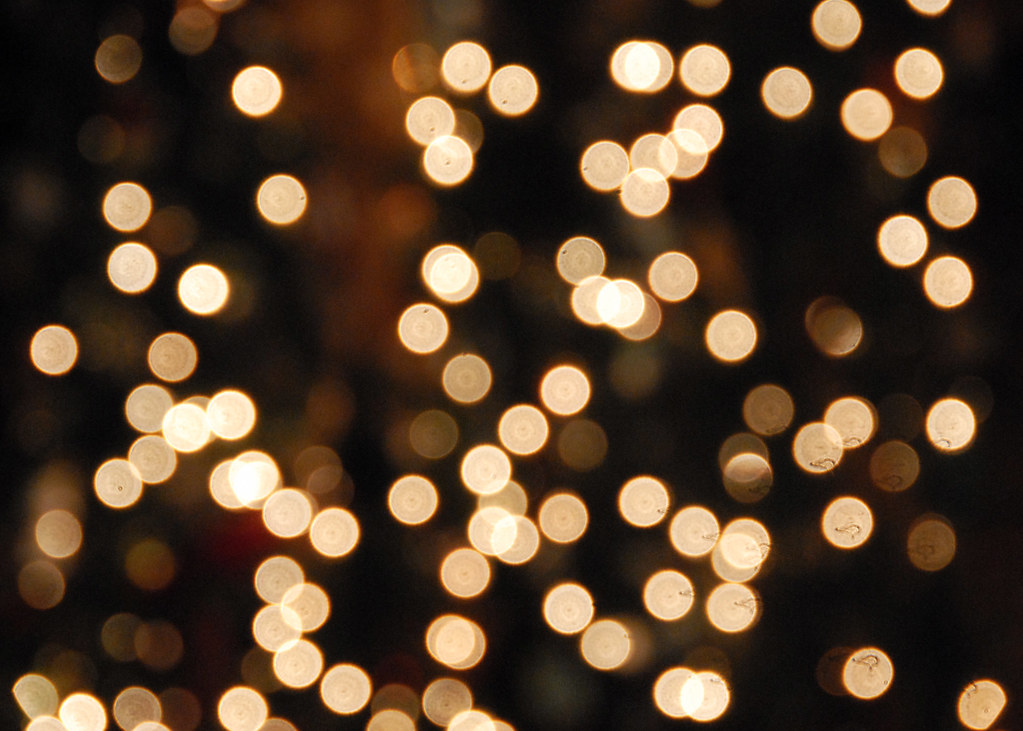 white christmas lights bokeh by wishard of oz