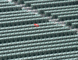 "Fenway Parks ""Lone Red Seat"" 