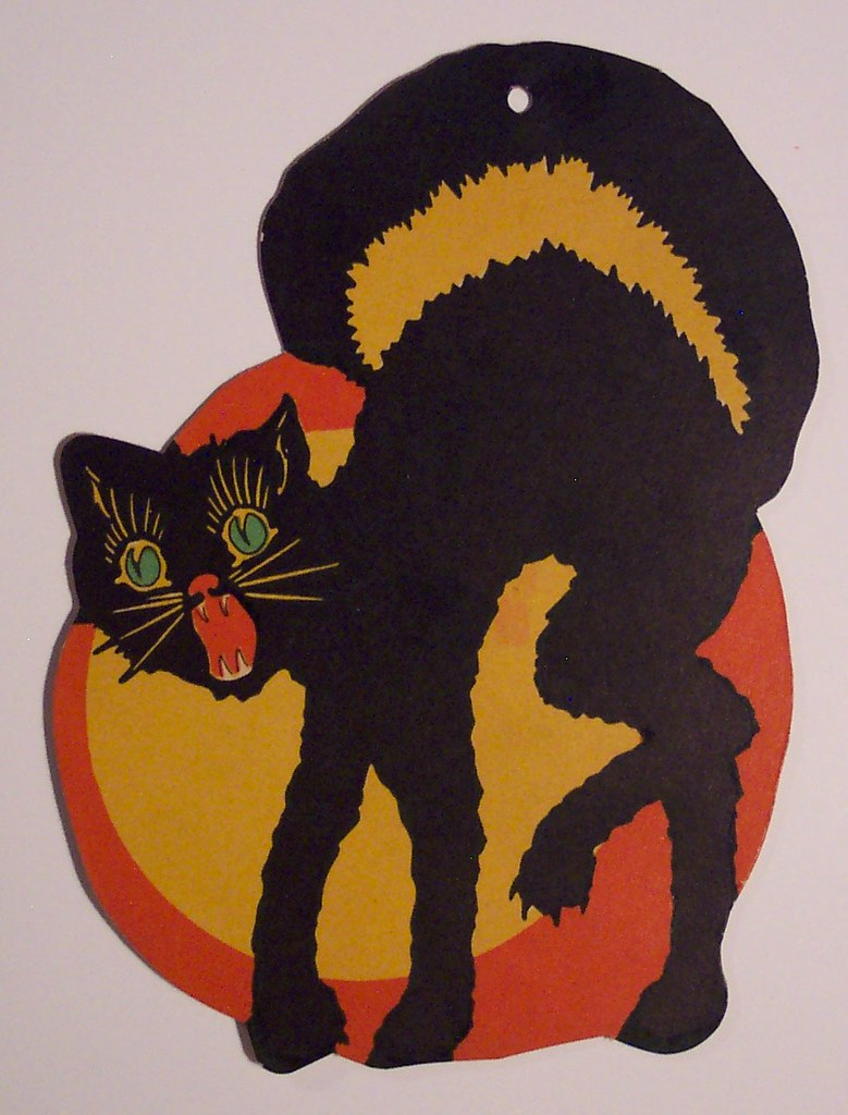 Vintage Halloween Cat Diecut | 5 1/4 inches tall | Dave | Flickr