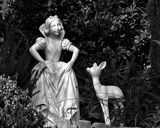 Disney - Snow White Grotto - B & W (Explored) | by Express Monorail