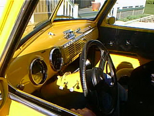 ... Bc99e02 1949 Chevy Truck Interior, Kelowna 1999 | By CanadaGood