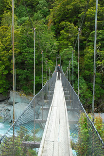 long swingbridge, hike to rob roy glacier in mount aspiring national park | by hopemeng