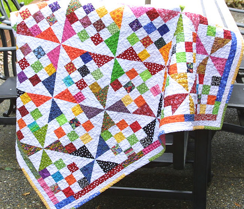 Scrappy Illusion Quilt | by twiddletails