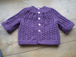 Very Easy Baby Cardigan | by knittyblue