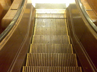 Wooden Escalator in Macys | by mookstar
