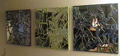 ... broken mirror wall art | by thisorathat & broken mirror wall art | my mom calls these