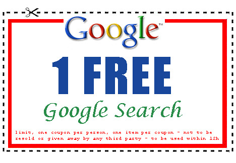 Google Search Coupon: 1 FREE Google Search | by Bramus!