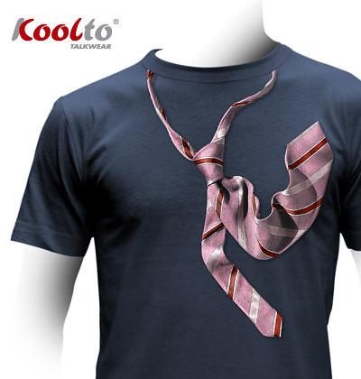 Koolto cool design T shirt. Trompe l'oeil tie Tee.   Flickr