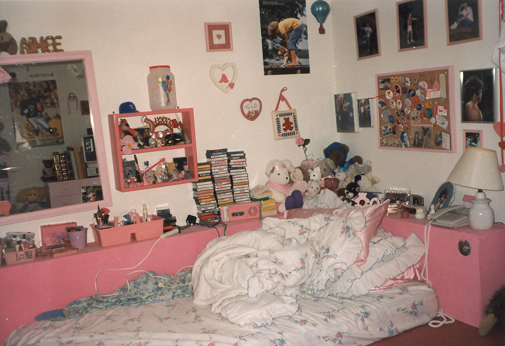 My Bedroom (1988) | I saw this bed in Seventeen Magazine and… | Flickr