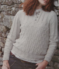 Wheat Cable Cotton Sweater | by AgnesBerthelot