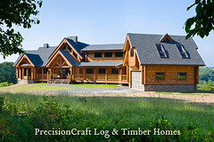 Exterior Of A Custom Milled Log Home By Precisioncraft L