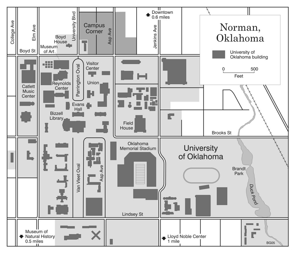 University Of Oklahoma Map Map of Norman and University of Oklahoma campus | From the b… | Flickr University Of Oklahoma Map