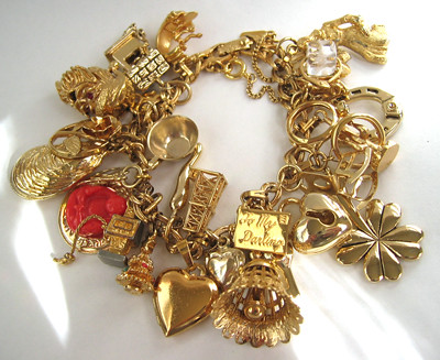 Vintage Gold charm bracelet | Found at an antique show ...