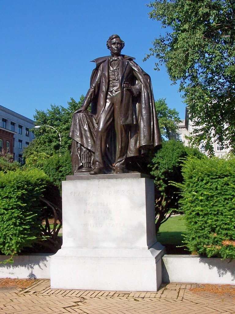 statue to franklin pierce 14th president of the united states by j stephen