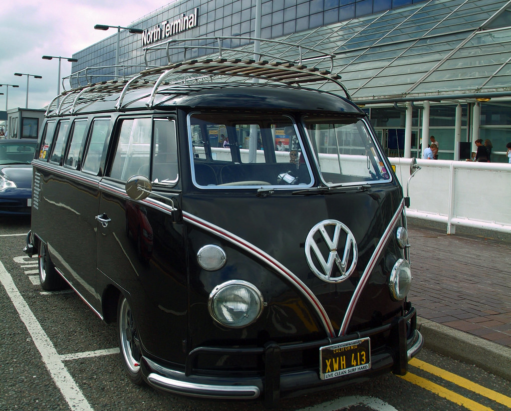 Volkswagen Camper Van At London Gatwick Airport For More I Flickr