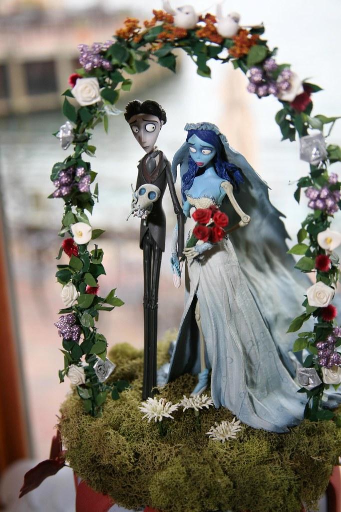 corpse bride wedding cake topper | leah dorfman | Flickr