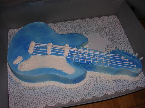 Electric Guitar Cake Decorations