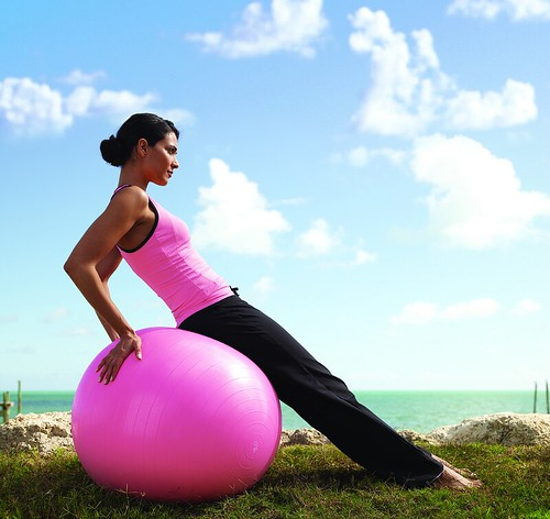 photo remix: Yoga woman on exercise ball - flickr_enthusiast_rocks_Nilmarie_Yoga-001 | by adria.richards