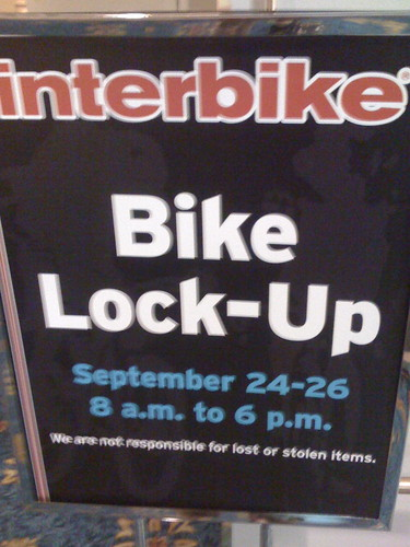 Interbike 08 Day One: Bike Lock Up | by Hugger Industries