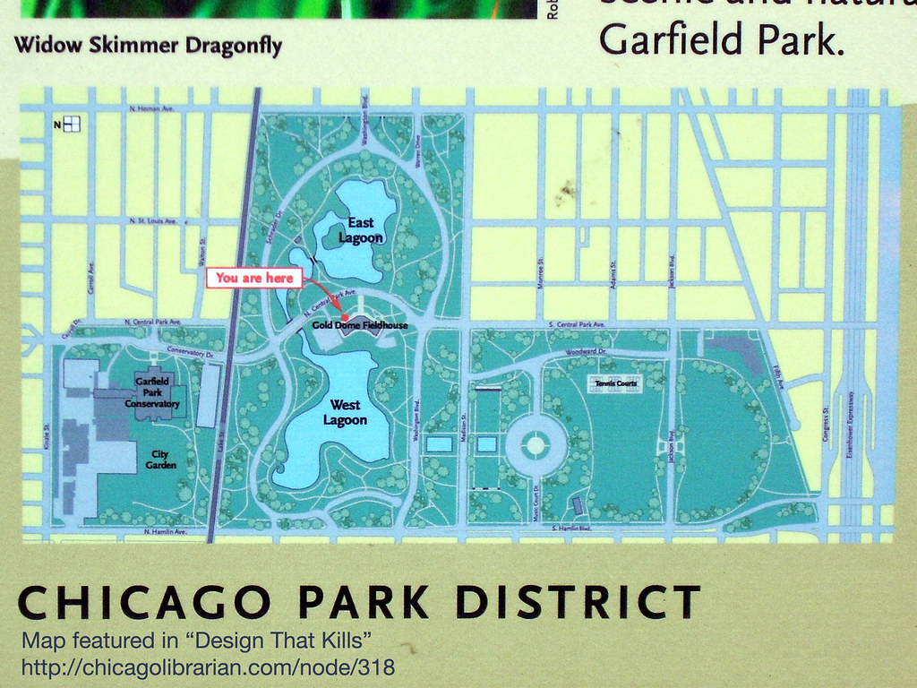 Garfield Park Chicago Map.Garfield Park Conservatory Map Close Up Which Way S Nort Leo