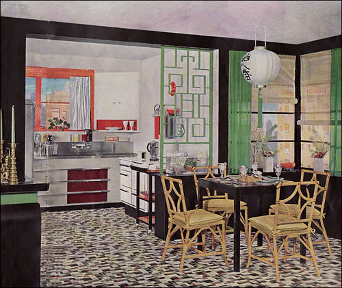 1935 Armstrong Kitchen Asian Theme Published In Quot The