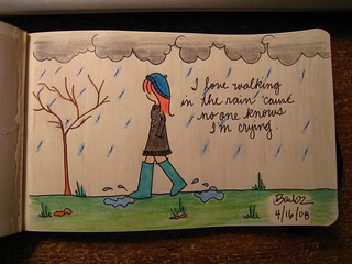 I love walking in the rain 'cause no one knows I'm crying. | by ohdearbarb
