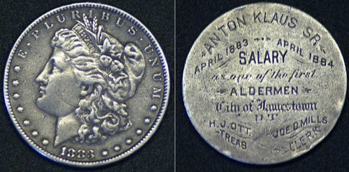 Engraved Silver Dollar Jamestown ND | by Numismatic Bibliomania Society