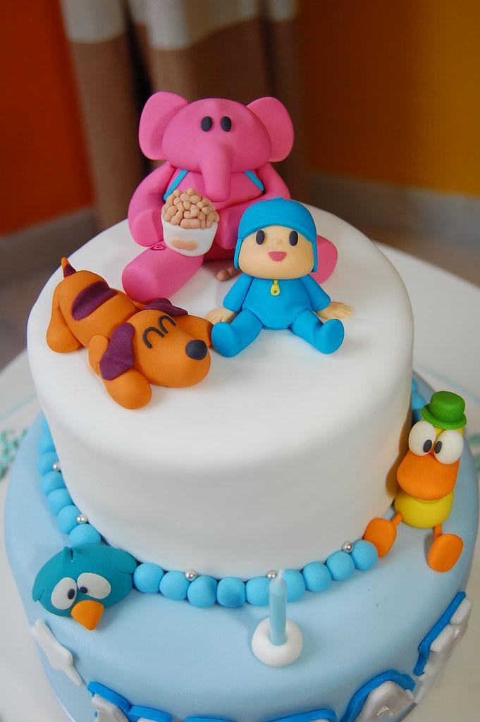 Pocoyo Theme Birthday Cake Pocoyo And Friends Ready To Gre Flickr