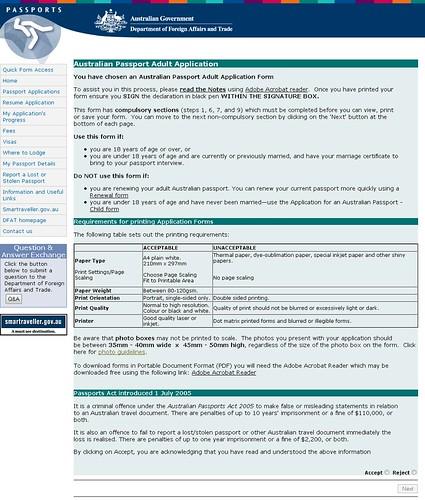 Application Form Australian Pport on
