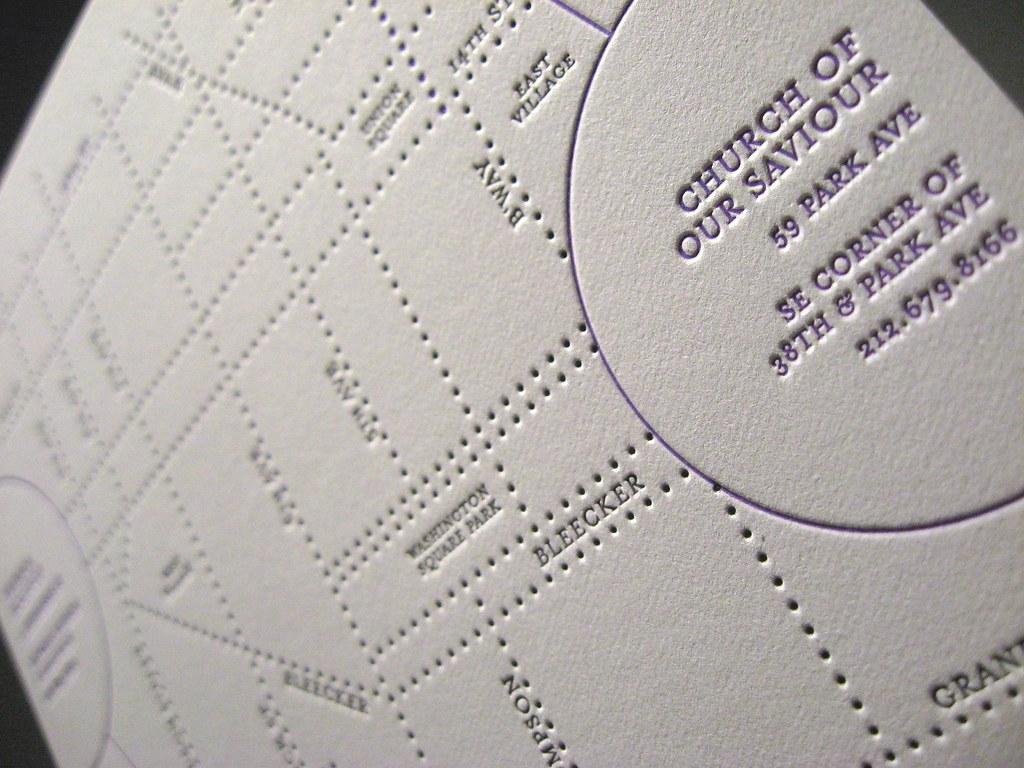 Jina Dots Letterpress Wedding Invitations - Directions Clo… | Flickr