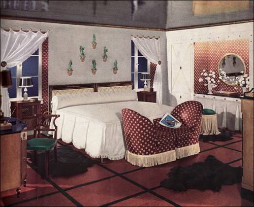 1936 Middle Class Glam | This bedroom was likely the kind ...