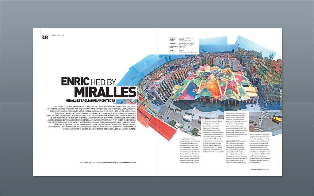 Modern Design Magazine ::: Miralles Tagliabue | Magazine des… | Flickr