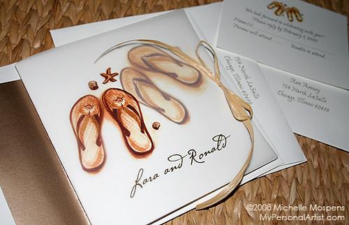 Unique Wedding Invitations Flip Flop Beach Theme Flickr