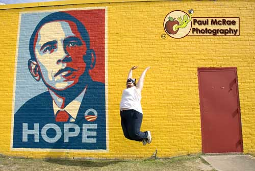 Leapin' for Obama | by Paul McRae (Delta Niner)